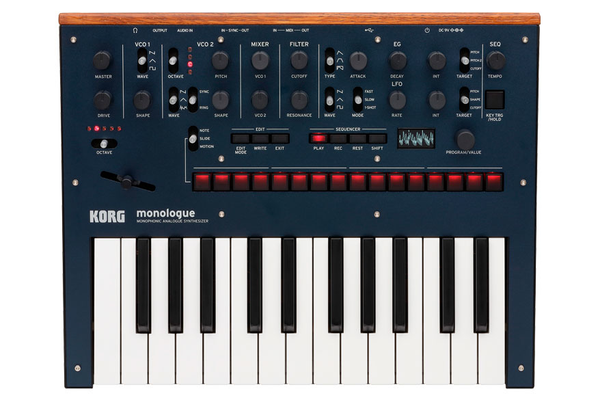 Korg Monologue Monophonic Analogue Synthesizer - Blue - Bananas at Large - 1