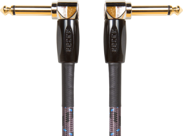 Boss BIC-PC-3 3-Pack 6 in. Instrument Cable with Angled to Angled 1/4 in Connectors - Bananas at Large
