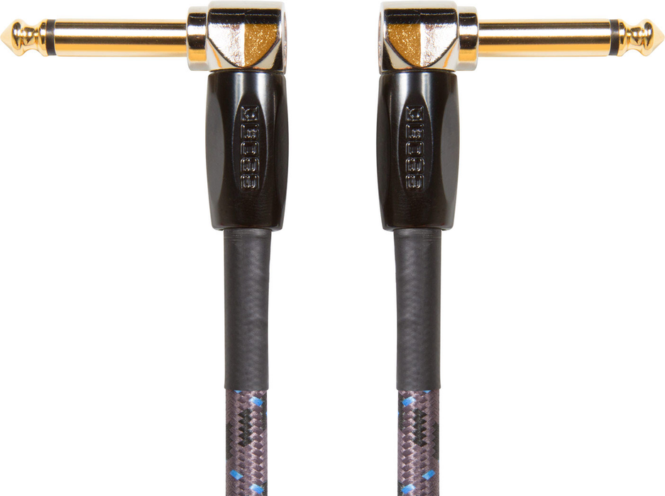 Boss BIC-PC 6 in. Instrument Cable with Angled to Angled 1/4 in. Connector - Bananas at Large