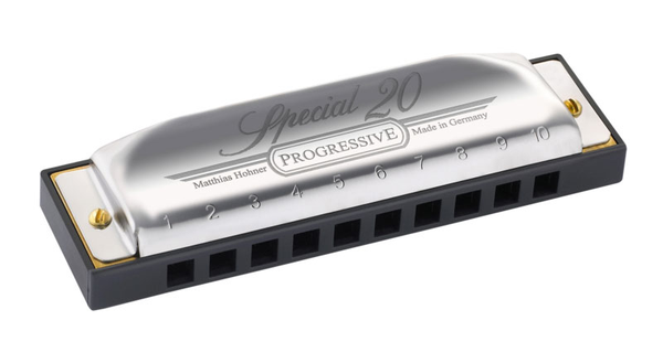Hohner 560PBXD Progressive Special 20 Harmonica In Key Of D - Bananas at Large