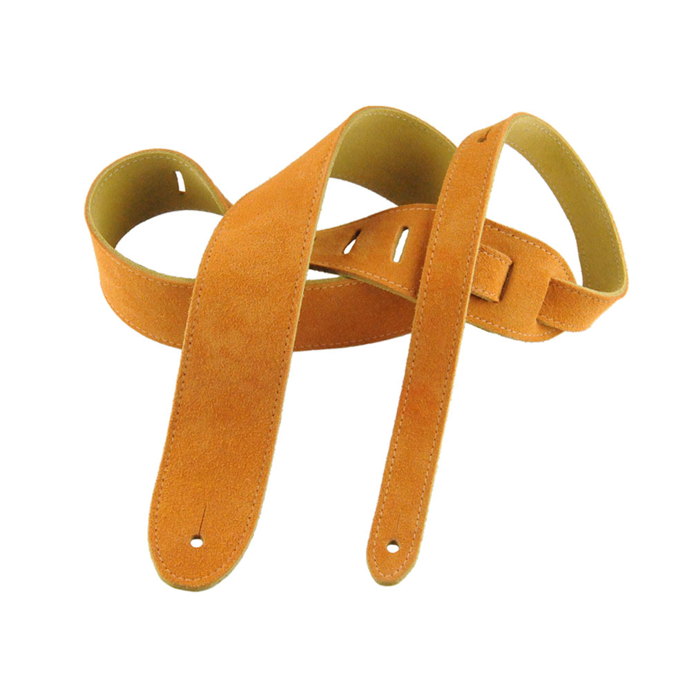 Henry Heller HBS2 2 in. Basic suede Guitar Strap - Honey - Bananas At Large®