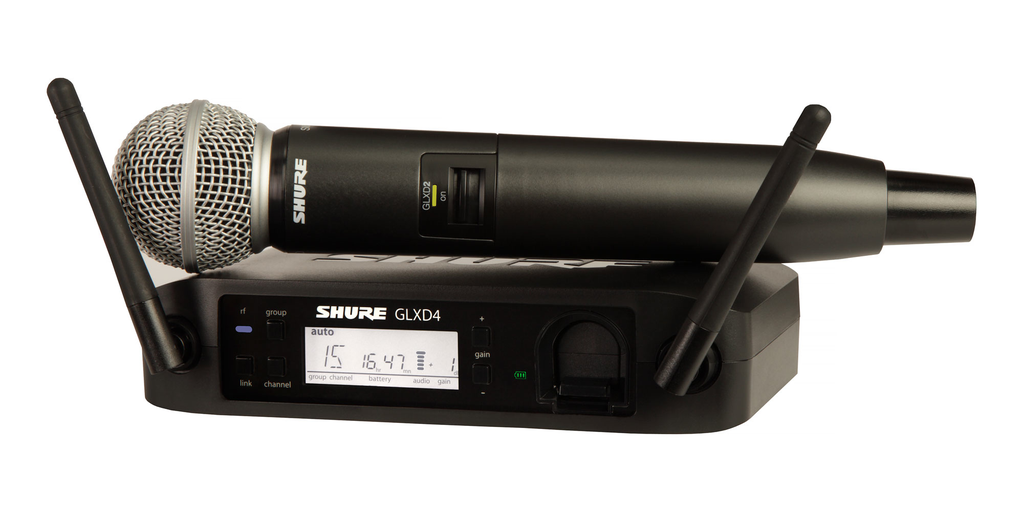 Shure GLXD24/SM58 Handheld Wireless System - Bananas at Large