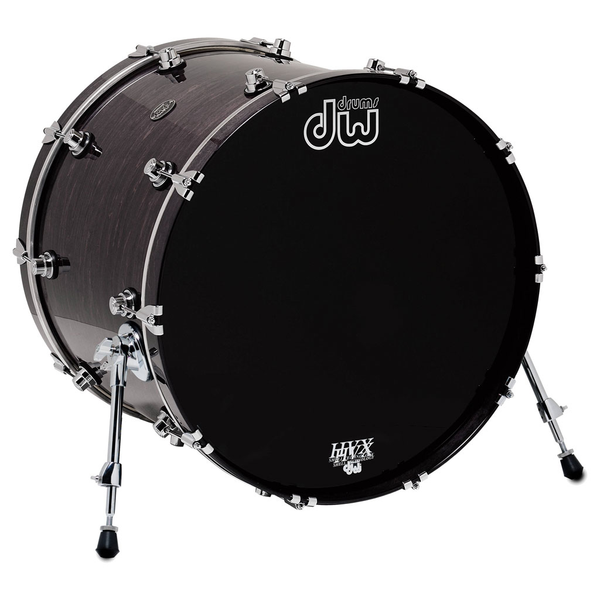DW Performance Series 18x22 Kick Drum - Ebony Stain - Bananas at Large