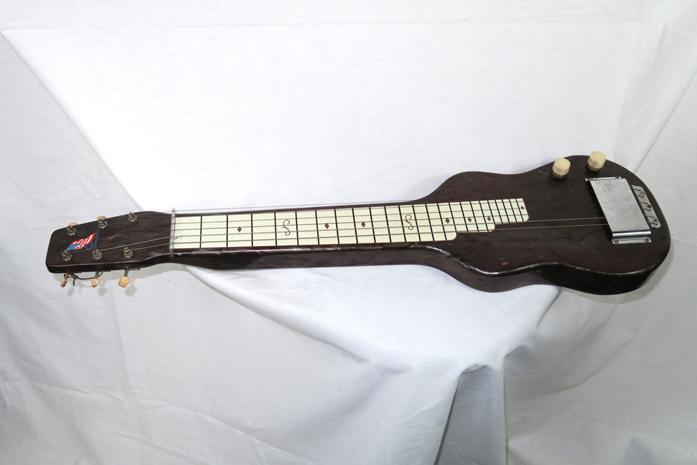 Magnatone Amerloha 1950s Six String Lap Steel with Brown Case (Jeffrey Cohen) (Pre-Owned) - Bananas at Large - 1