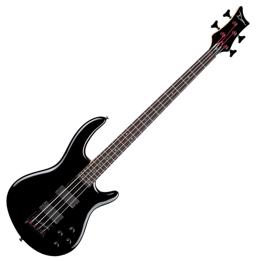 Dean Edge 4 String Bass with EMGs, Classic Black - Bananas at Large