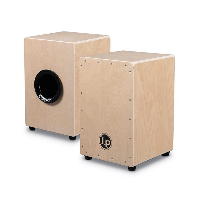 Latin Percussion Aspire Tour Wire Cajon with Cajon Port and Bag - Natural - Bananas at Large