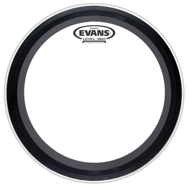 Evans BD22EMAD2 22 in. EMAD2 Clear Bass - Bananas at Large - 1