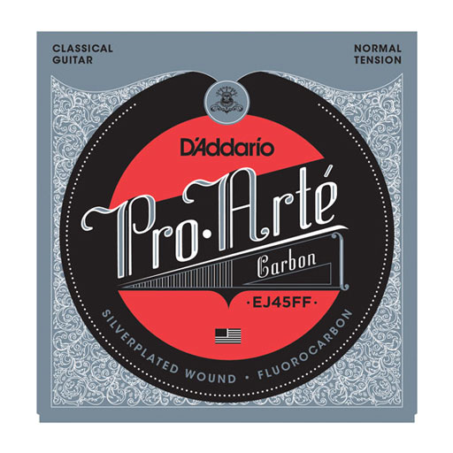 DAddario EJ45FF Classical String Set Pro-Arté Carbon with Dynacore Basses Normal Tension - Bananas At Large®