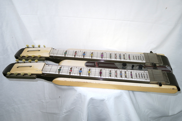 National 1948 Grand Console Double Neck 8 String Lap Steel, No Case (Jeffrey Cohen) (Pre-Owned) - Bananas at Large - 1
