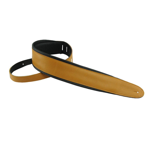 Henry Heller HPAD25-33 3.5 in. Luxe Soft Padded Capri Leather Guitar Strap - Bananas at Large