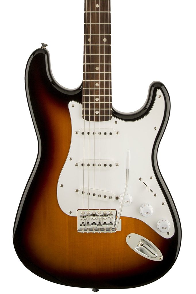 Squier Affinity Series Stratocaster with Rosewood Fingerboard - Brown Sunburst - Bananas at Large - 1