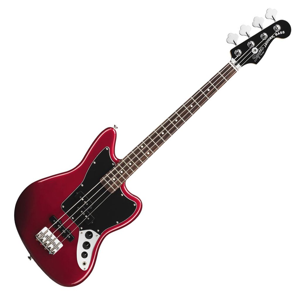 Squier Vintage Modified Jaguar Bass Special SS (Short Scale) - Candy Apple Red - Bananas at Large