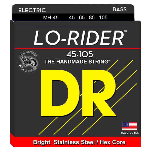 DR Strings MH-45 Lo-Rider Medium Stainless Steel Bass Strings - Bananas at Large