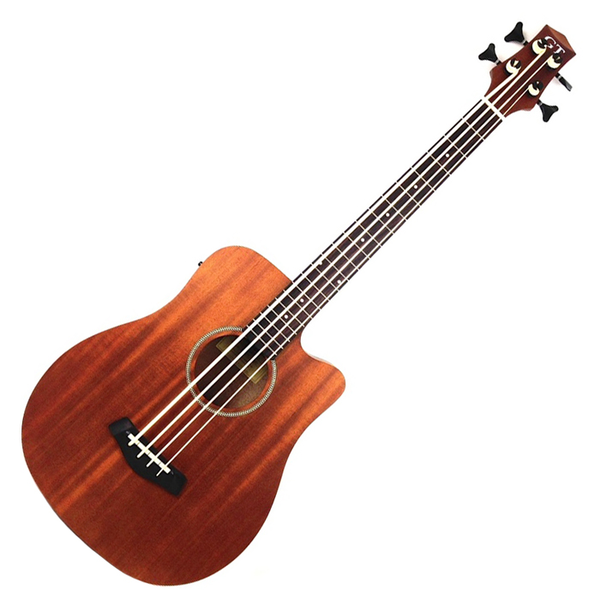 Gold Tone M-Bass 25 In. Scale Acoustic Electric MicroBass with Gig Bag - Natural - Bananas at Large - 1