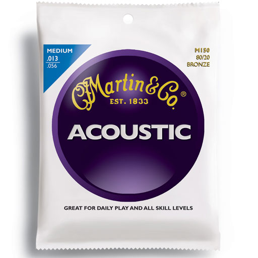Martin M150 80/20 Bronze Medium Acoustic Guitar Strings - Bananas at Large