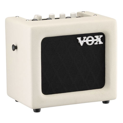 Vox Mini3 G2 3 Watt Battery Powered Guitar Combo Amp - Ivory - Bananas at Large