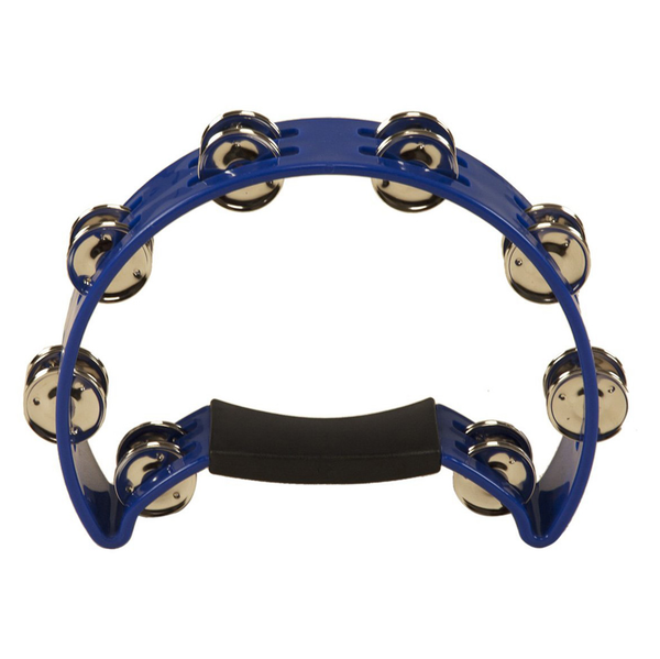 Coda DP-140 Double Row Tambourine with Ergonomic Handle - Blue - Bananas At Large®