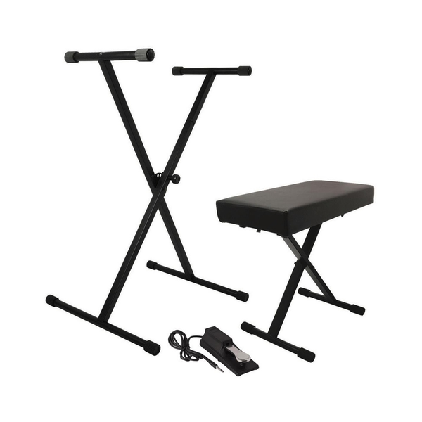 On-Stage KPK6550 Keyboard Stand/Bench Pak with KSP100 Sustain Pedal - Bananas at Large