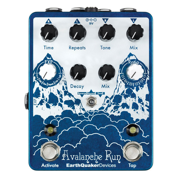 Erathquaker Devices Avalanche Run Delay Reverb with Tap - Bananas At Large®