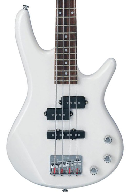 Ibanez GSRM20 Mikro Electric 4 String Bass - Pearl White - Bananas at Large - 1