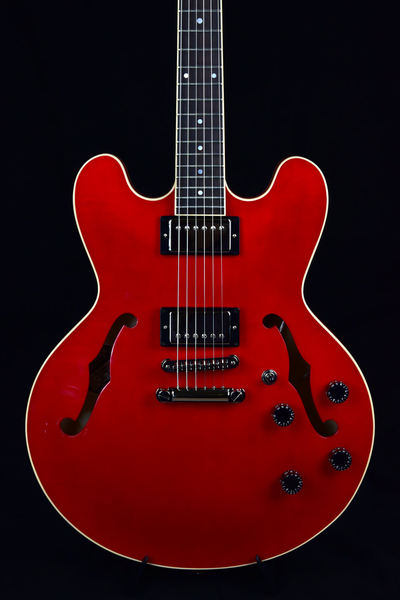Heritage H-535 Semi-Hollow Body Guitar - Cherry Translucent