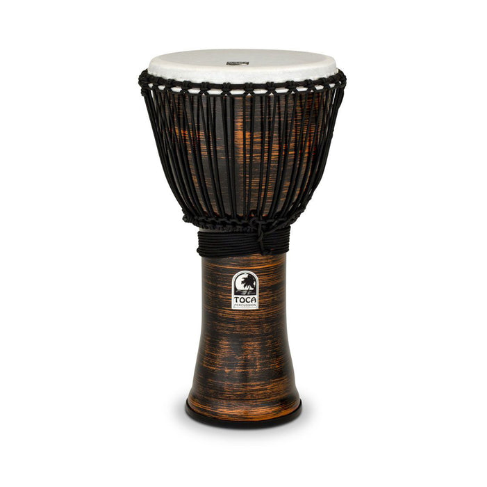 Toca Freestyle II Rope Tuned 12in Djembe - Spun Copper