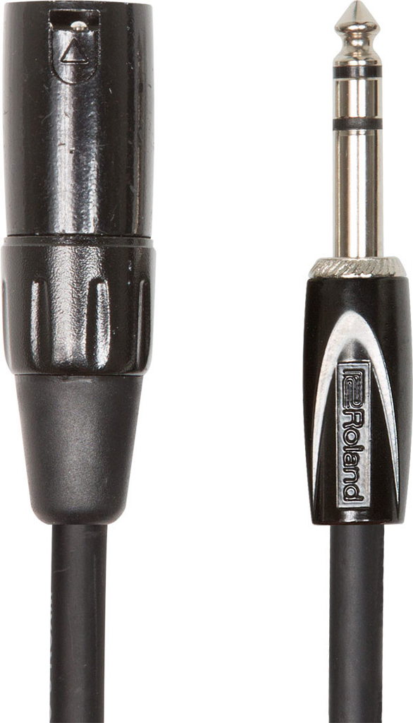 Roland RCC-15-TRXM Black Series 15ft Interconnect Cable with 1/4 in. TRS male to XLR male - Bananas at Large
