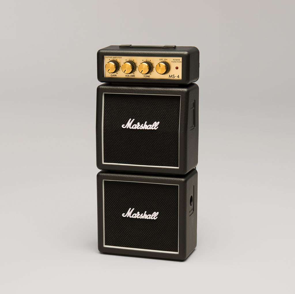 Marshall MS-4 Not-So-Mini Amp - Black - Bananas at Large - 2