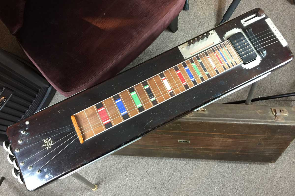Vega Electric Console 1939 Six String Lap Steel with Legs and Brown Case (Jeffrey Cohen) (Pre-Owned) - Bananas at Large - 2