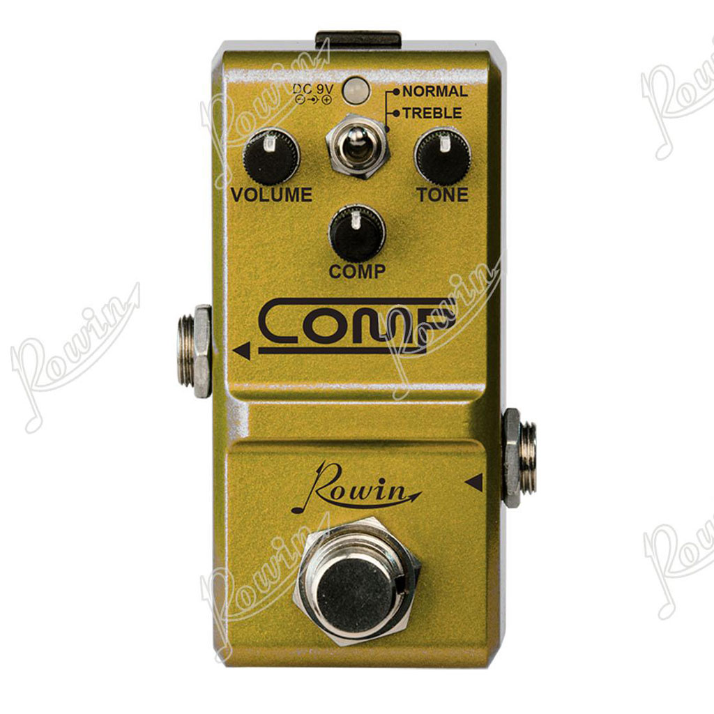 Rowin NANO COMP Studio Grade Compressor Pedal - Bananas at Large