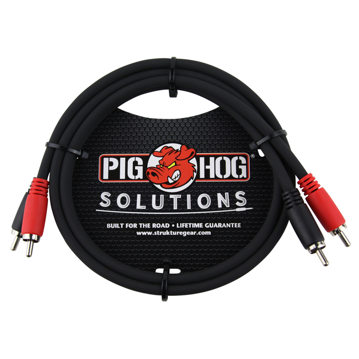 Pig Hog PD-RCA03 Solutions 3ft RCA - RCA Dual Cable - Bananas at Large