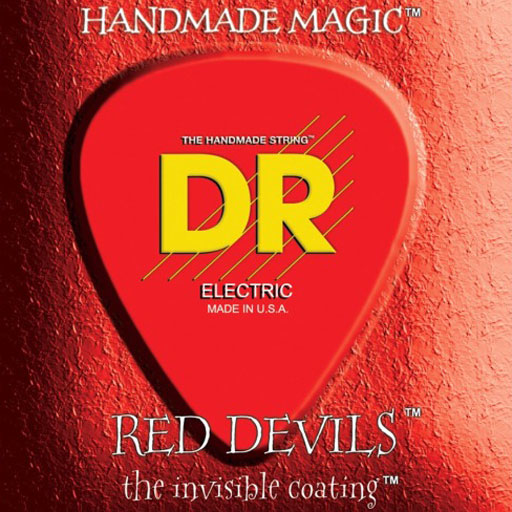 DR Strings RDE-10 Coated Red Devils Electric Guitar Strings Medium - Bananas At Large®