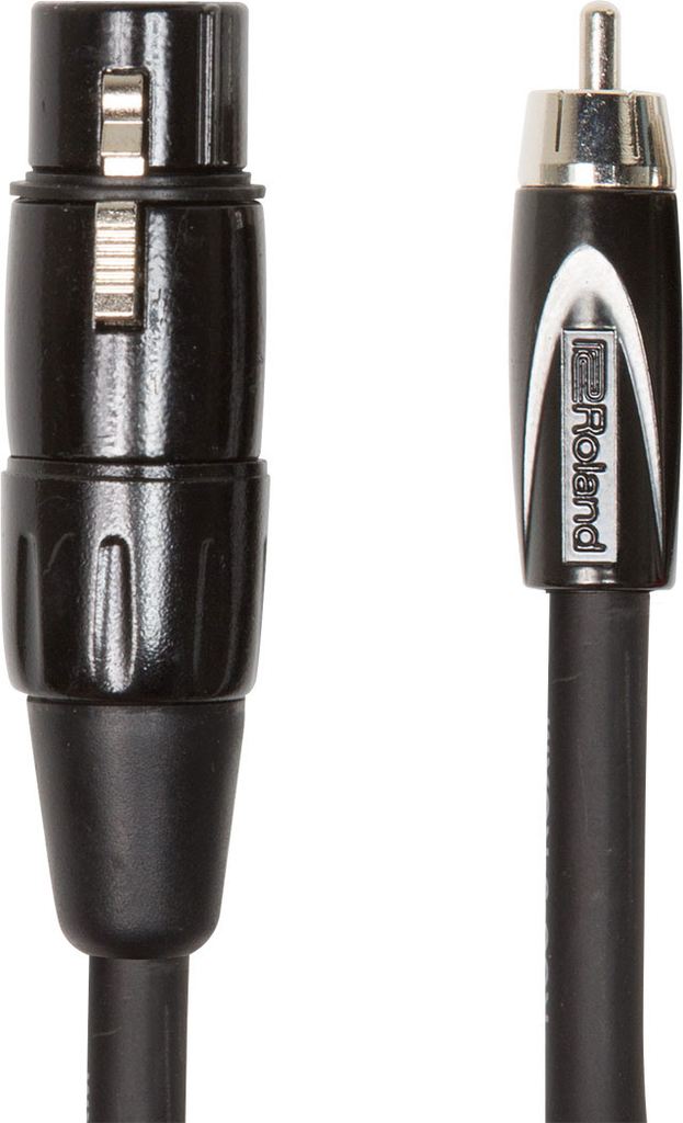 Roland RCC-10-RCXF Black Series 10ft. Interconnect Cable with XLR Female to RCA - Bananas at Large