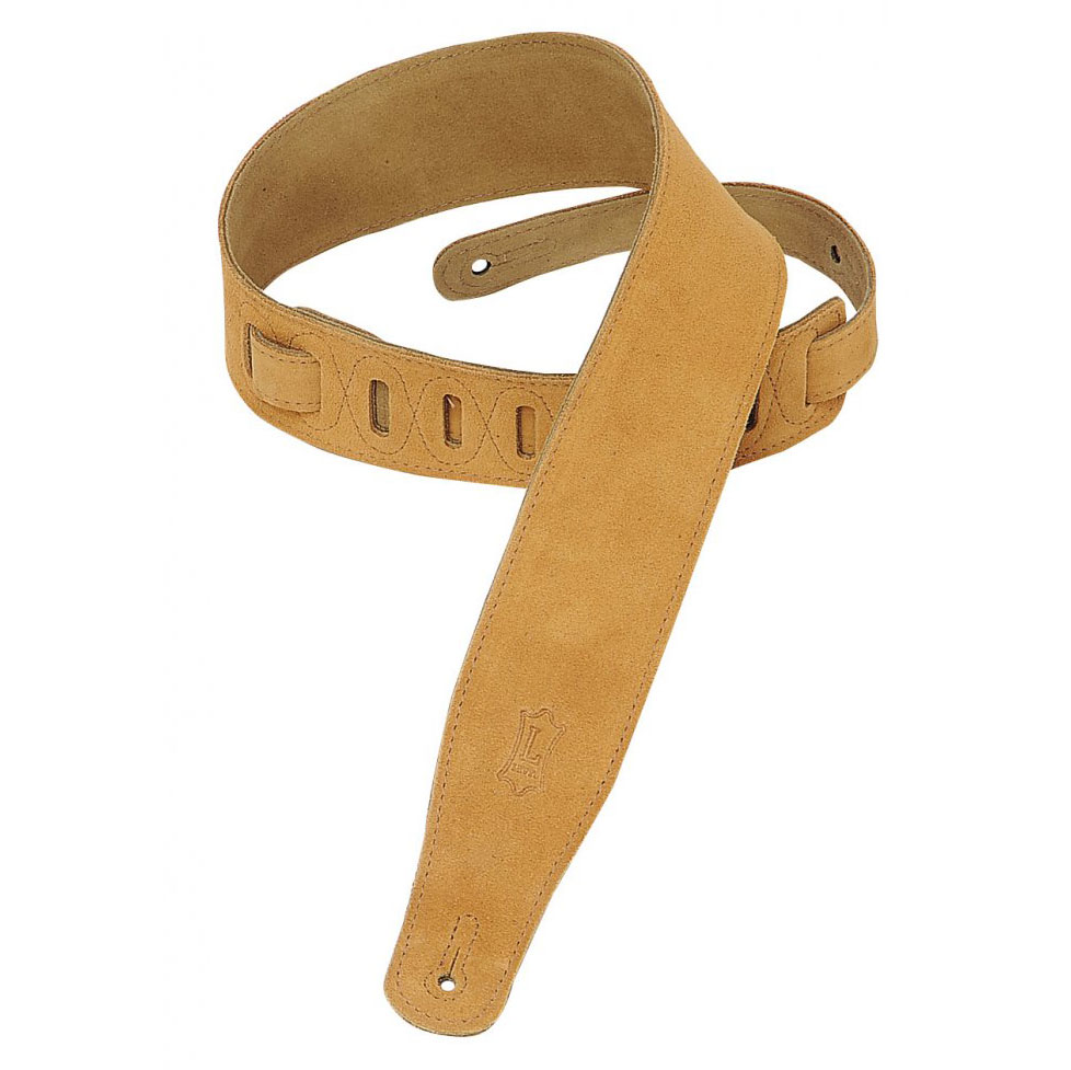 Levy's 2 1/2 in. wide honey suede guitar strap. - Bananas at Large