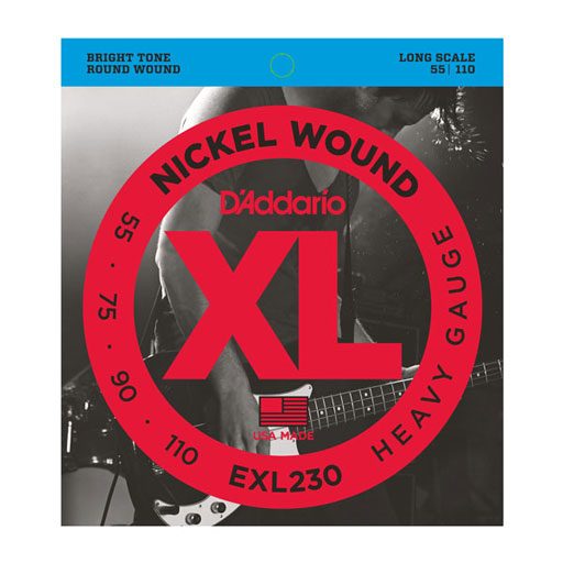 DAddario EXL230 Nickel Wound Bass String Heavy 55-110 Long Scale - Bananas at Large