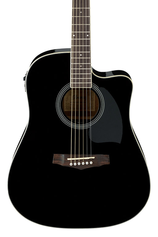 Ibanez Cutaway Dreadnought Acoustic Guitar - Black High Gloss