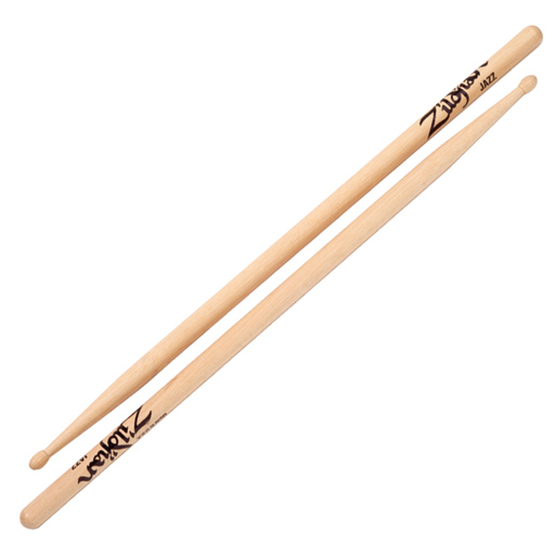 Zildjian JZWN Jazz Wood Natural Hickory Series Drumstick with Teardrop Tip Shape - Bananas at Large