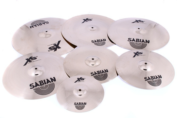 Sabian Xs20 7 Piece Complete Set Brilliant Finish - Bananas at Large