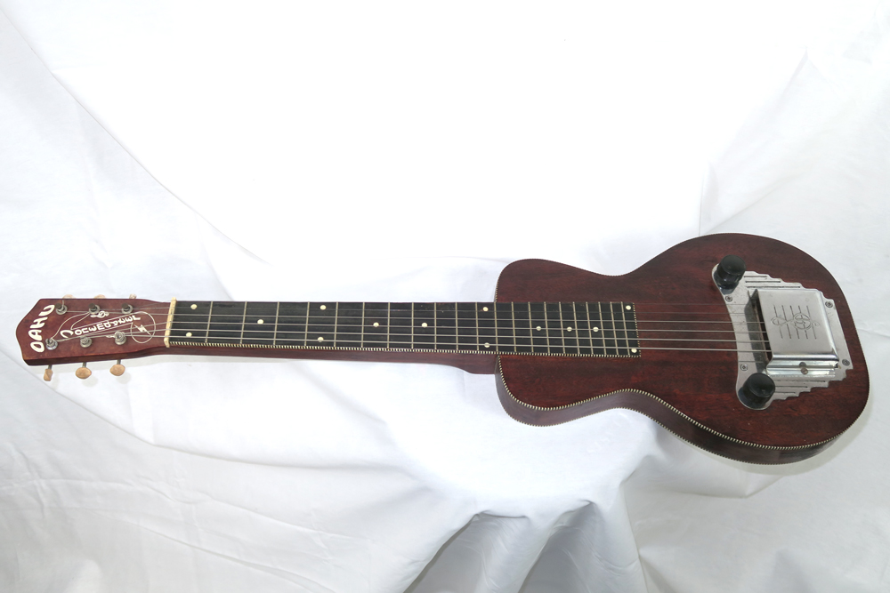 Oahu Tonemaster 1953 Six String Lap Steel with Snake Case (Jeffrey Cohen) (Pre-Owned) - Bananas at Large - 1