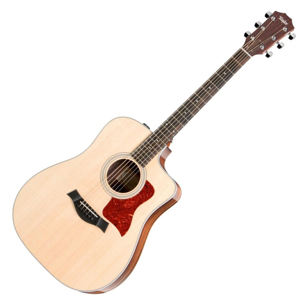 Taylor 210ce DLX Dreadnought Cutaway Acoustic Electric Guitar with Case, ES2 - Bananas at Large