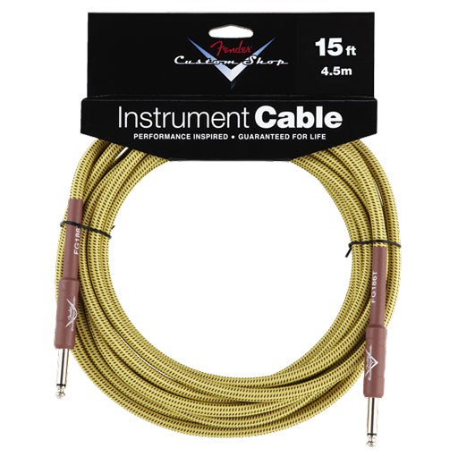 Fender Custom Shop Performance Series Cables, Straight to Straight 15ft, Tweed - Bananas at Large