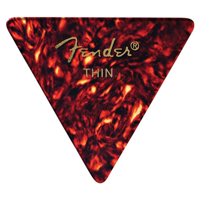 Fender Thin 355 Shape Classic Celluloid Guitar Picks - 12 Count Pack Tortoise Shell - Bananas At Large®