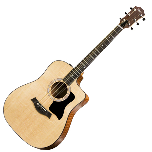 Taylor 110ce Acoustic-Electric Dreadnought Cutaway Guitar with Gig Bag, ES2 - Bananas at Large