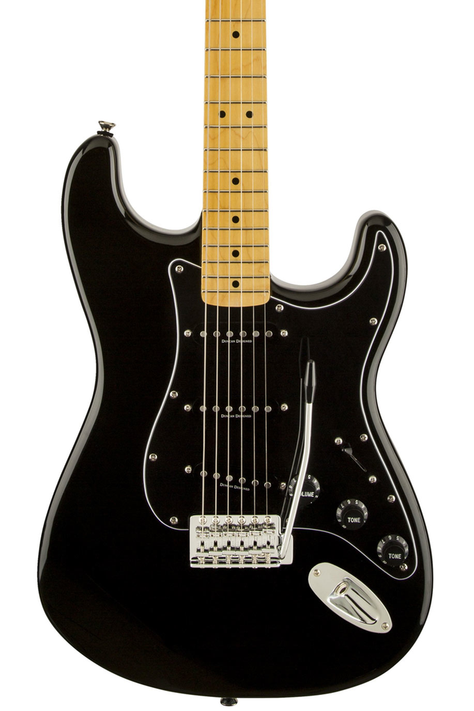 Squier Vintage Modified 70s Stratocaster with Maple Fingerboard - Black - Bananas at Large - 1