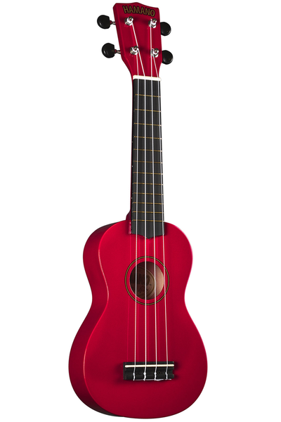Hamano U-30RD Soprano Ukulele with Bag - Red - Bananas at Large - 1