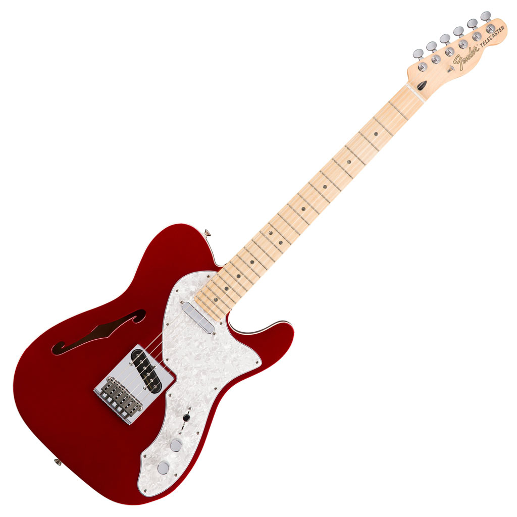Fender Deluxe Telecaster Thinline with Maple Fingerboard - Candy Apple Red - Bananas At Large®