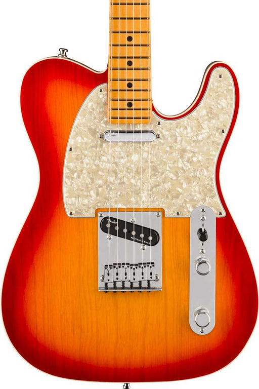 Fender American Ultra Telecaster with Maple Fingerboard - Plasma Red Burst