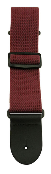 Henry Heller HCOT2 2 in. Cotton Guitar Strap - Burgundy - Bananas at Large