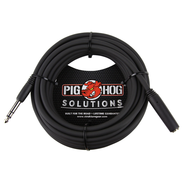 Pig Hog PHX14-25 Solutions 25ft Headphone Extension Cable, 1/4 - Bananas at Large