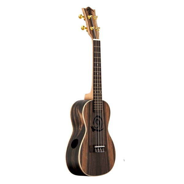 Amahi Snail Concert Ukulele - Ebony - Bananas At Large®